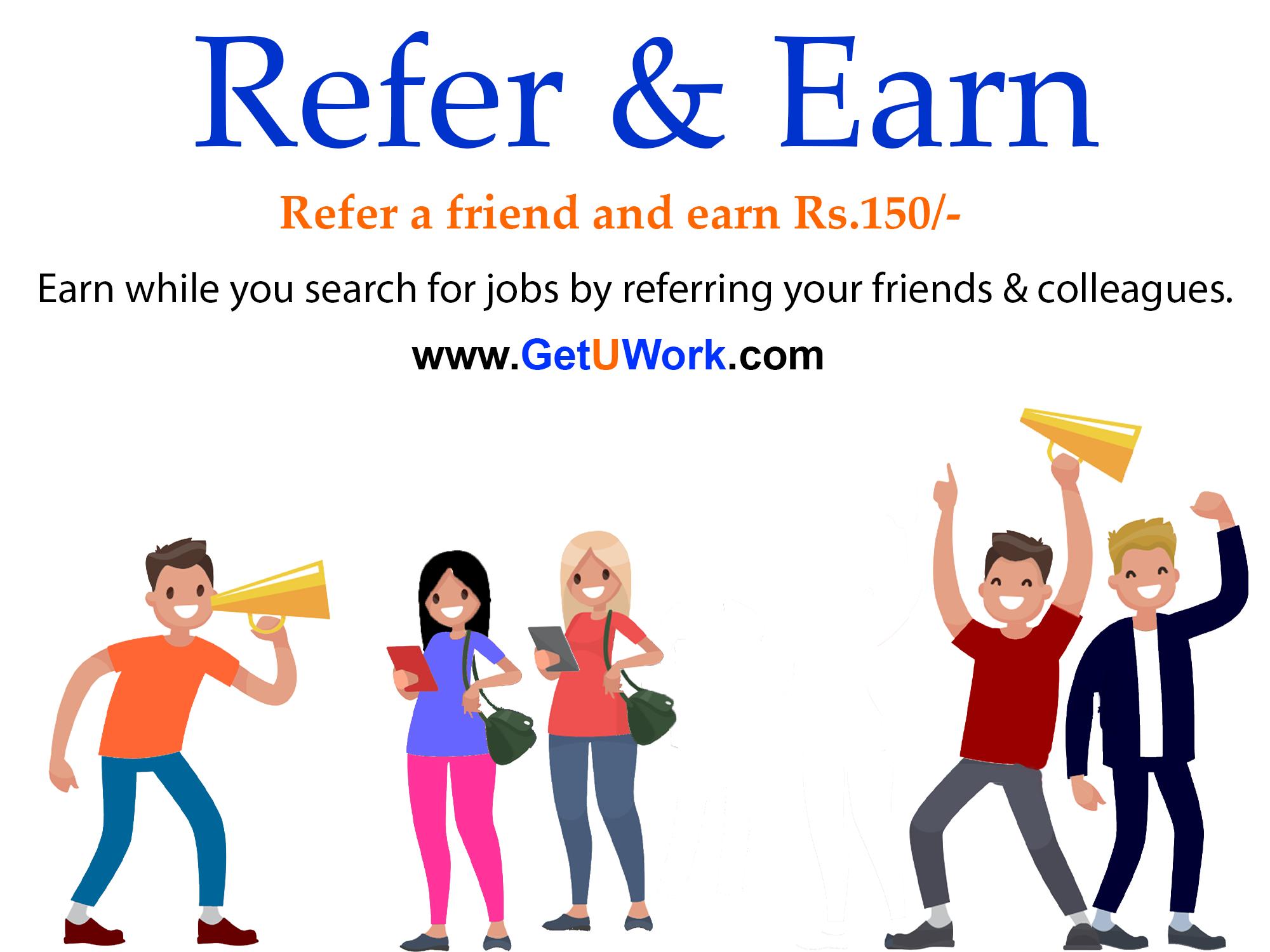 Refer and Earn through Getuwork Refferal Program